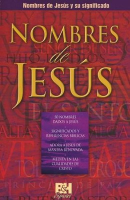 Nombres de Jesus, Folleto (Names of Jesus, Pamphlet)   -
