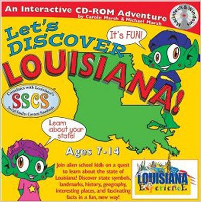 Let's Discover Louisiana CD-ROM, Grades 2-8   -     By: Carole Marsh