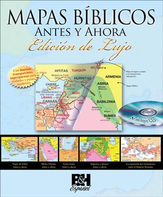 Mapas Bíblicos Antes y Ahora, Edición de Lujo  (Then and Now Bible Maps, Deluxe Edition)  -