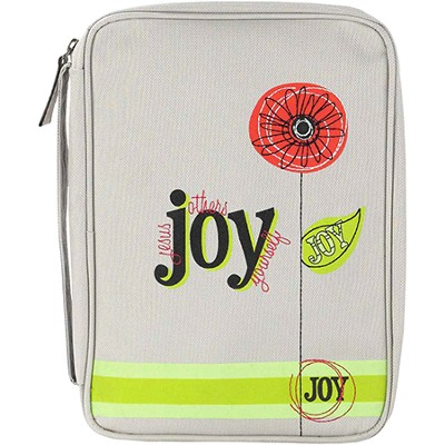 Joy, Flower Bible Cover, Medium  -