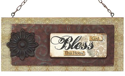 God Bless This Home Wall Plaque  -