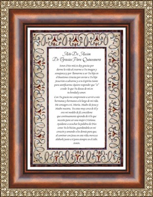 Acto de Accion , Thanks for Quincneanera Framed Print  -