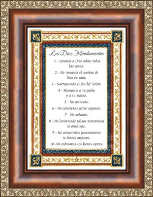 Los Diez Mansamientos, Ten Commandments Framed Print  -