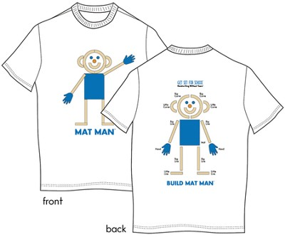 Adult Small Mat Man T-Shirt   -