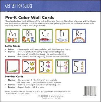 Color Wall Cards, Set of 36--Preschool   -