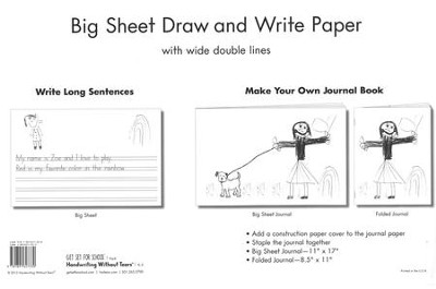 Big Sheet Draw and Write Paper, 100 Sheets--Grades K to 1  -