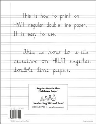 Regular Notebook Paper, 100 Sheets--Grades 2 to 3   -