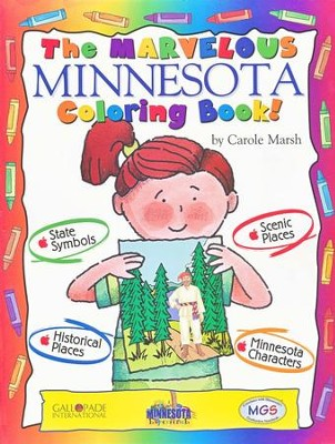 Minnesota Coloring Book, Grades PreK-3  -     By: Carole Marsh