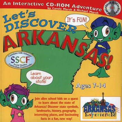 Let's Discover Arkansas! CD-ROM, Grades 2-8   -     By: Carole Marsh