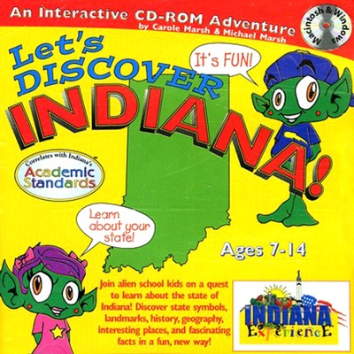 Let's Discover Indiana CD-ROM, Grades 2-8   -     By: Carole Marsh