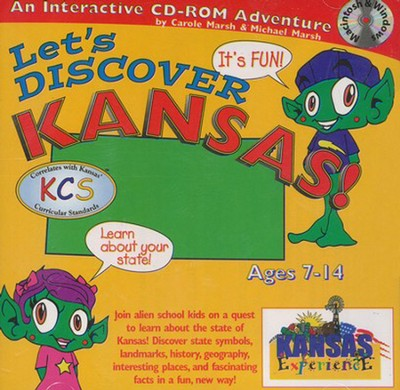 Let's Discover Kansas CD-ROM, Grades 2-8   -     By: Carole Marsh