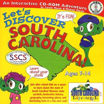 Let's Discover South Carolina CD-ROM, Grades 2-8   -     By: Carole Marsh