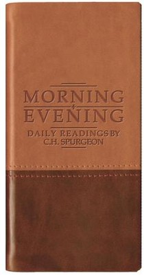 Morning & Evening - Matte Tan/Burgundy  -     By: Charles H. Spurgeon