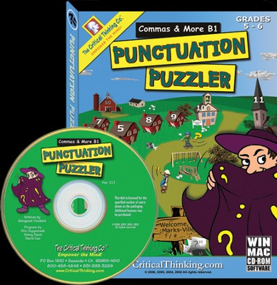 Punctuation Puzzlers: Commas B1 on CD-ROM, Grades 5-6   -