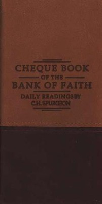 Chequebook of the Bank of Faith - Tan/Burgundy  -