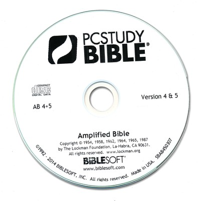 The Amplified Bible Add-On PC Study Bible CAB  -
