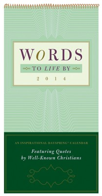 2014 Wall Calendar, Words To Live By  -