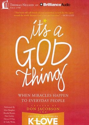 It's A God Thing: When Miracles Happen to Everyday People - unabridged audiobook on MP3 CD  -     By: Don Jacobson
