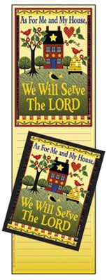 As For Me and My House Memo Magnet Set  -