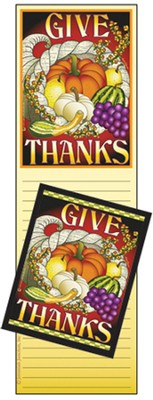 Give Thanks Memo Magnet Set  -