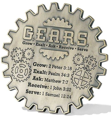 Grow Exalt Ask Receive Serve Tabletop Plaque  -