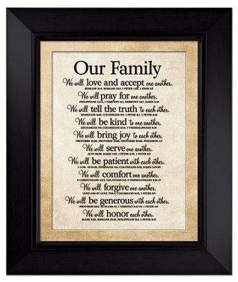 Our Family - Framed Art   -