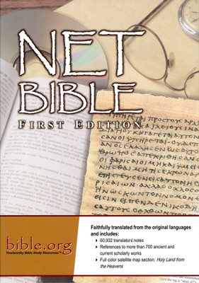 NET Bible First Edition, Genuine Top-Grain Black Leather   -