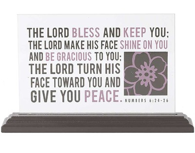 The Lord Bless and Keep You Glass Plaque  -