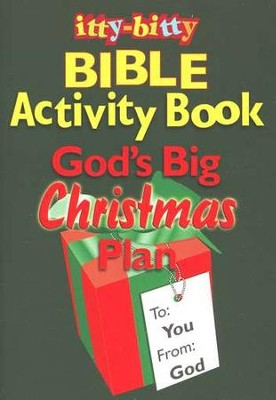 God's Big Christmas Plan--Itty Bitty Bible Activity Book  -
