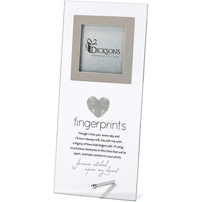 Fingerprints, Forever Etched Upon My Heart Glass Photo Frame  -