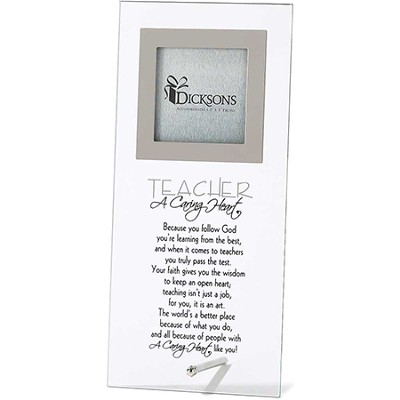 Teacher, A Caring Heart Glass Photo Frame  -