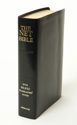 NET Bible, Premium Bonded Leather, Black Full Notes Edition  -