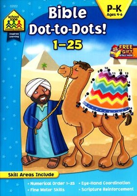 Bible Dot-to-Dot! 1-25 Ages 4-6   -