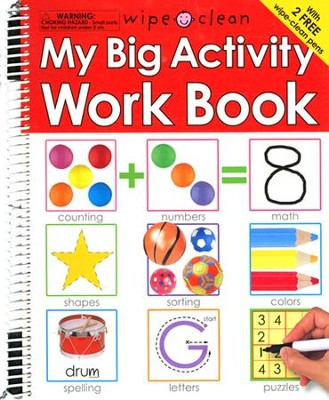 Wipe Clean: My Big Activity Work Book  -     By: Roger Priddy