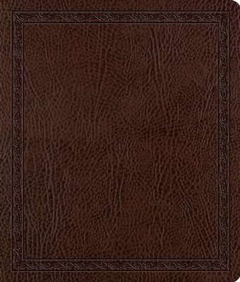 ESV Journaling Bible, Bonded Leather, Mocha, Threshold Design - Imperfectly Imprinted Bibles  -