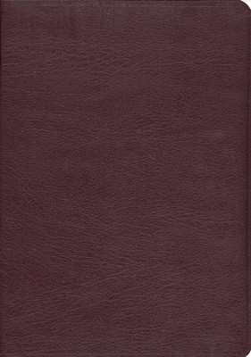ESV Study Bible--Genuine leather, Burgundy  -