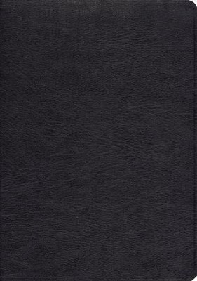 ESV Study Bible--Genuine leather, black - Imperfectly Imprinted Bibles  -