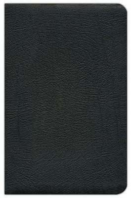 NAS Updated Ultrathin Bible, Genuine Leather in black   -