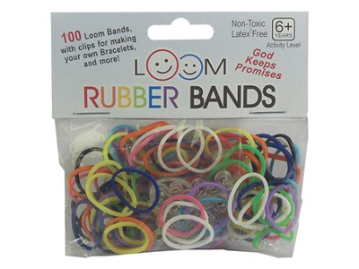 Loom Rubber Bands, 100 Pieces, Rainbow  -