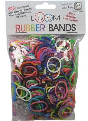 Loom Rubber Bands, 600 Pieces, Multicolor  -