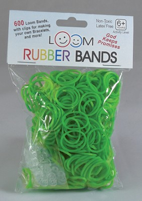 Loom Rubber Bands, 600 Pieces, Green  -