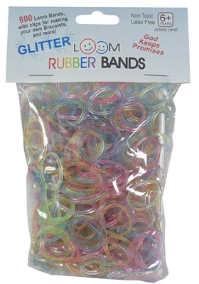 Glitter Loom Bands, 600 Pieces  -