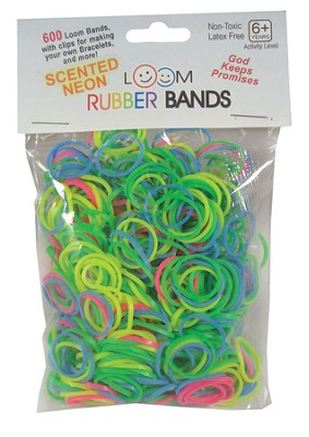 Scented Neon Loom Bands, 600 Pieces  -