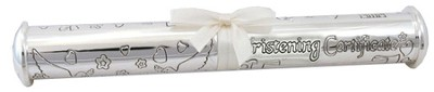 Christening Certificate Holder, Silver  -