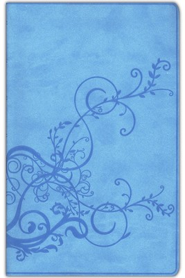ESV Thinline Bible, TruTone, SkyBlue, Ivy Design  -