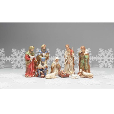 Fabric Nativity Set, 7 pieces, 10 Inches  -