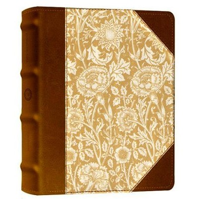 ESV 2-Column Journaling Bible, Antique Floral Design, Hardcover   -