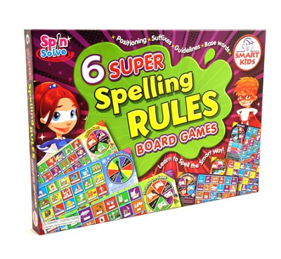 6 Super Spelling Rules Board Games   -