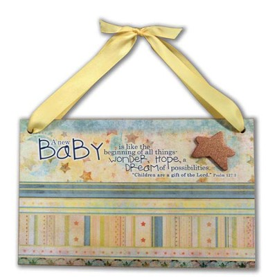 New Baby Plaque  -