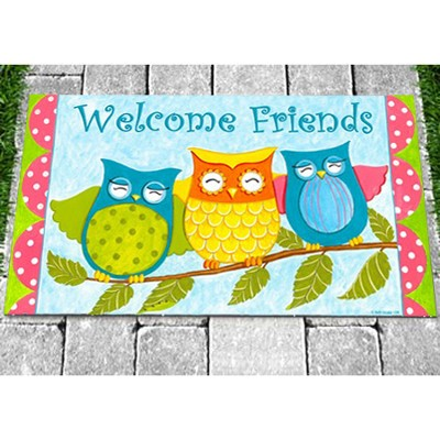 Owls Welcome Mat  -     By: Deb Strain